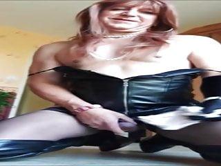 Candice french corssdresser soils satin panties...