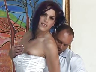 Gorgeous crossdresser gets sucked...