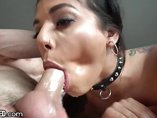 Gina Your THROATED Wants Gag Dick To On