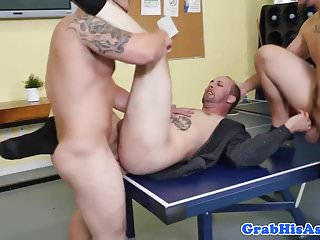 Office employee anal fucked before cumshot...
