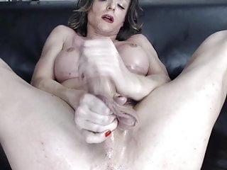 German cums her she jerks cock till tranny