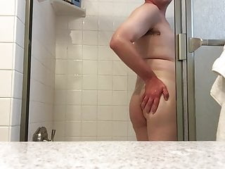 Bisexual chubby sissy boy enjoys being wet in...