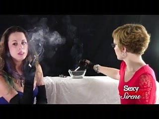 Smoking Fetish - Blonde and Brunette French Inhaling