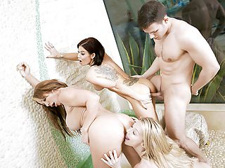 Horny Cock With Huge Shares Milf Friends - BadMILFS
