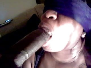 Wife giving great head with a blindfolded...