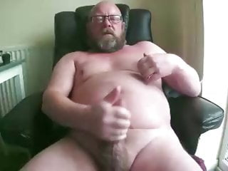 Chubby daddy with cum