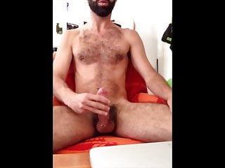 Piercing daddy hairy bear sperm...