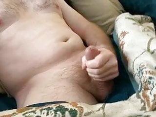 Stroking dick...