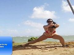 YouTube slut doing yoga in bikini 1