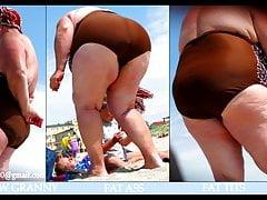 Cellulite BBW and SSBBW in bikini