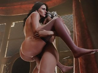 Futanari Ciri and Yennefer