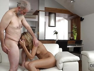 OLD4K. Tender sex is the way blonde and feeble lover begin