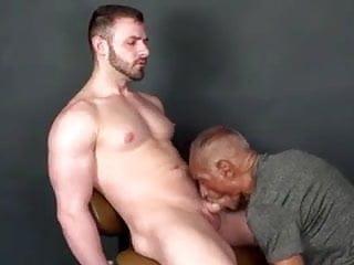 Black Grandpa Fun with 3 hot Boys