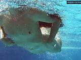 Kittina clairette hot hungarian teen underwater