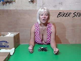 Voyeur Softcore porno: Hot Youtuber Biker Stuff - Awesome cleavage