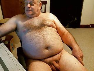 Naked bear dad on webcam...