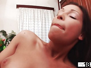 MY18TEENS - Teen Sucking and Riding on Huge Dick!