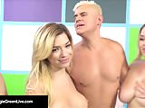 US Porn Star Maggie Green Has a 4 Way Orgy W Noelle Easton!