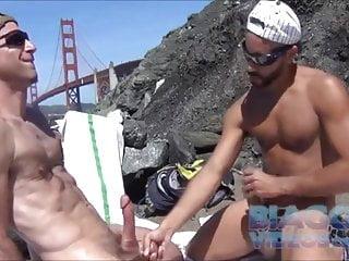 Double Wank on beach