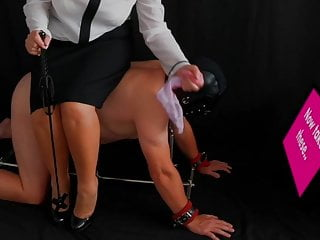 and Mistress Trains Femdom Sissy Slave Her Restrains