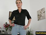 Casting beauty booty spunked on casting couch