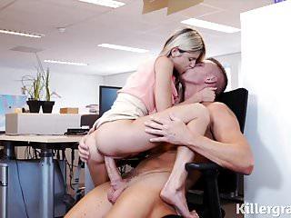 Sexy tiny babe small tits fucks big cock stud