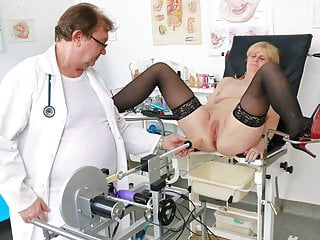 Horny granny 039 gyno exam and orgasm...