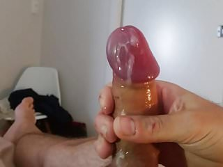 pre cum and cumshot from my big head uncut cock