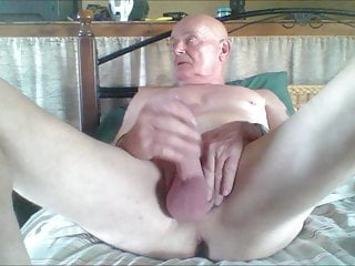 nude watching porn and pulling my cock