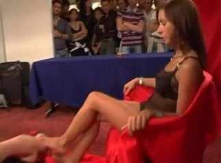lesbian foot slave worship mistress feet in public