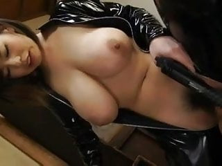 Latex with big tits...