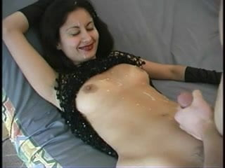 amateur wife gets cum covered by share