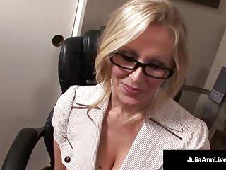 Office Milf Julia Ann Sucks Cock & Gets Hot Sticky Facial!