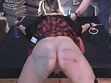 Bondage spanking, nice squirt
