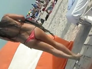 Mexicana en la playa