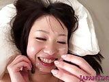 Tiny pornstar Yumeno Aika in cool pov action