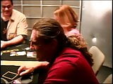 Hot chick maturbating on the poker table