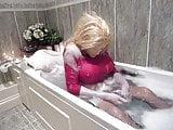 big tits in bath