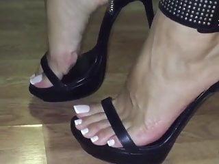 Arab feet french pedicure high heels -