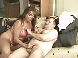Mature couple sex on couch