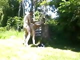 Pregnant fuck in the garden