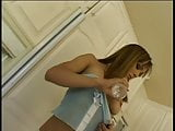 Cytheria shows off her tight ass and tits in the kitchen then fucks