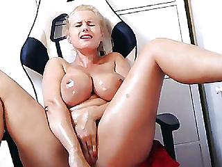 Porn star angel wicky live oil cum show...