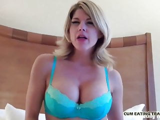 I want to watch you eat a hot load cum your own cum CEI