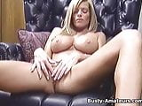Busty Tera playing with dildo