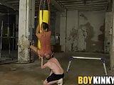 Bound sub slave endures bareback fucking from naughty dom
