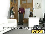 Fake Agent Cream pie for petite black haired Italian