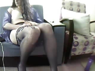 Me hot crossdresser masturbating...