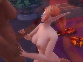 Black human elf female world of warcraft...
