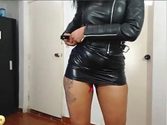 Women in Leather Jacket